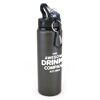 Large Aluminium Drinks Bottle in Gunmetal Black