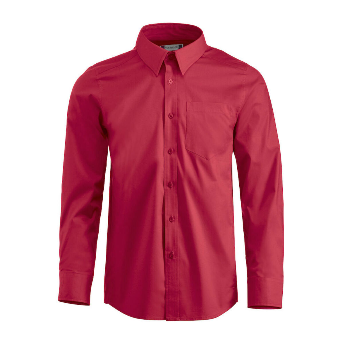 Clique Long Sleeved Shirt (Men's Red)