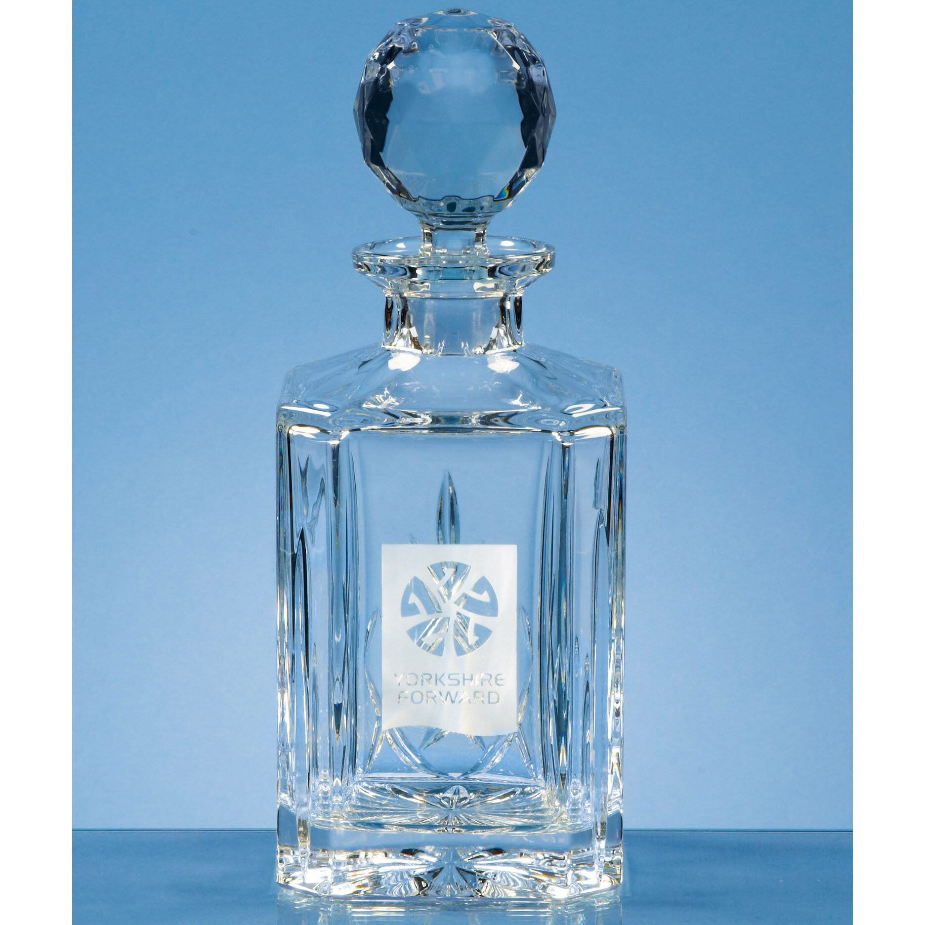 Lead Crystal Panel Square Decanter