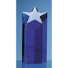 Crystal Star Column Awards for Engraving Sapphire Blue