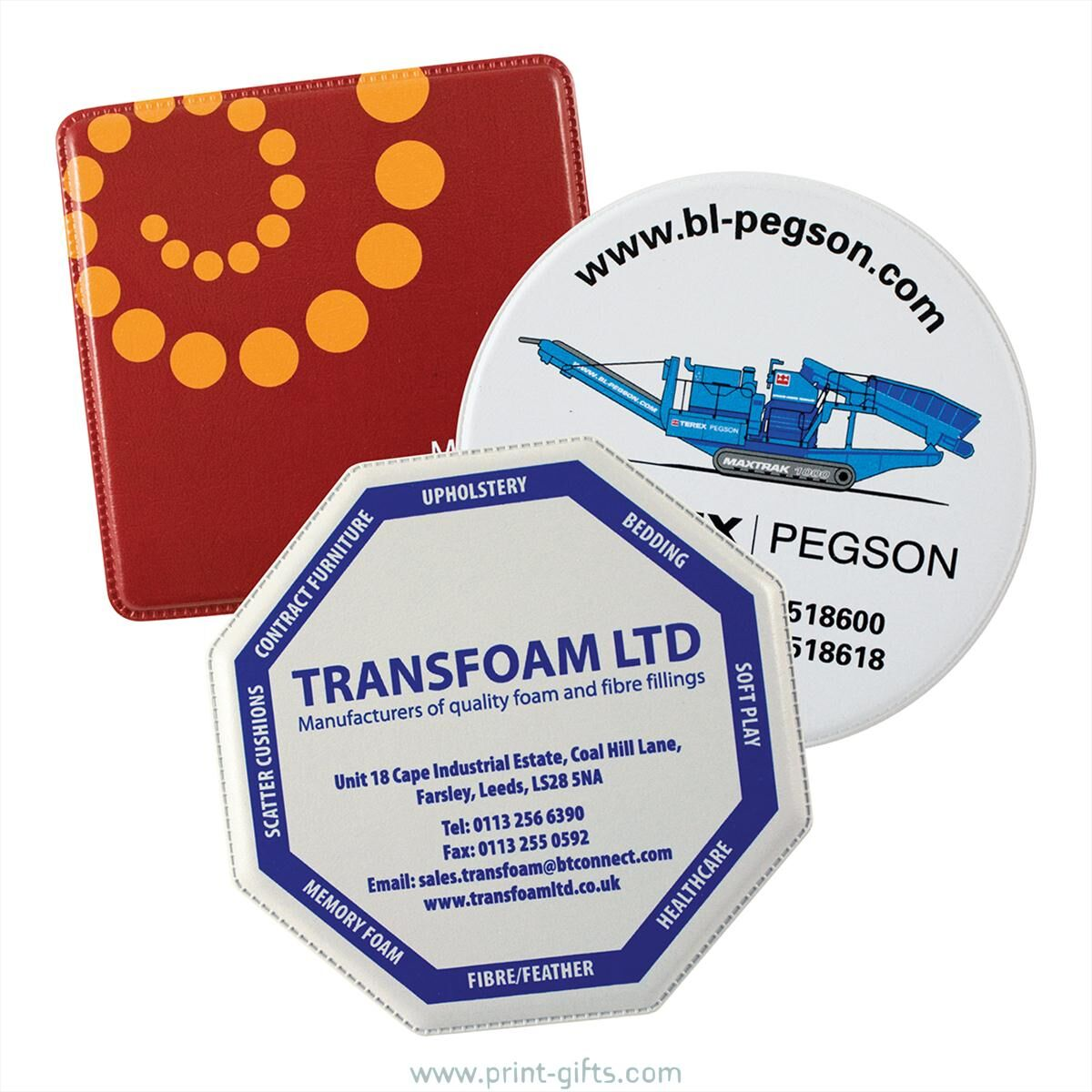Eco Coasters Printed Recycled PVC