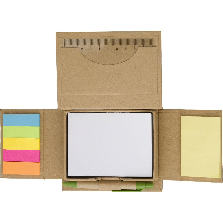 Cardboard Desk Organiser with Notepad & Pen
