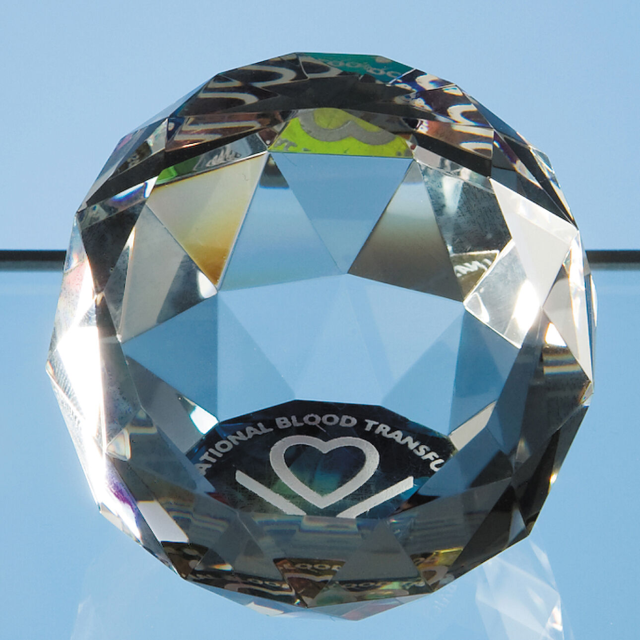 5cm Optical Crystal Facet Ball Paperweight