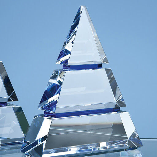 18.5cm Optical Crystal Pyramid Award