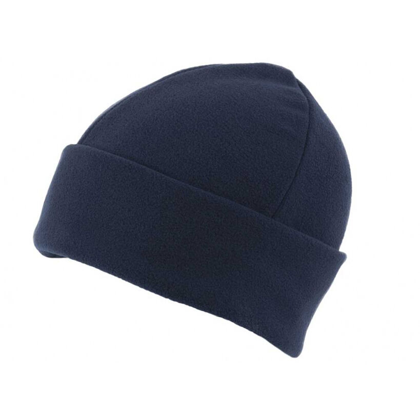 Fleece Beanie Hats - Navy