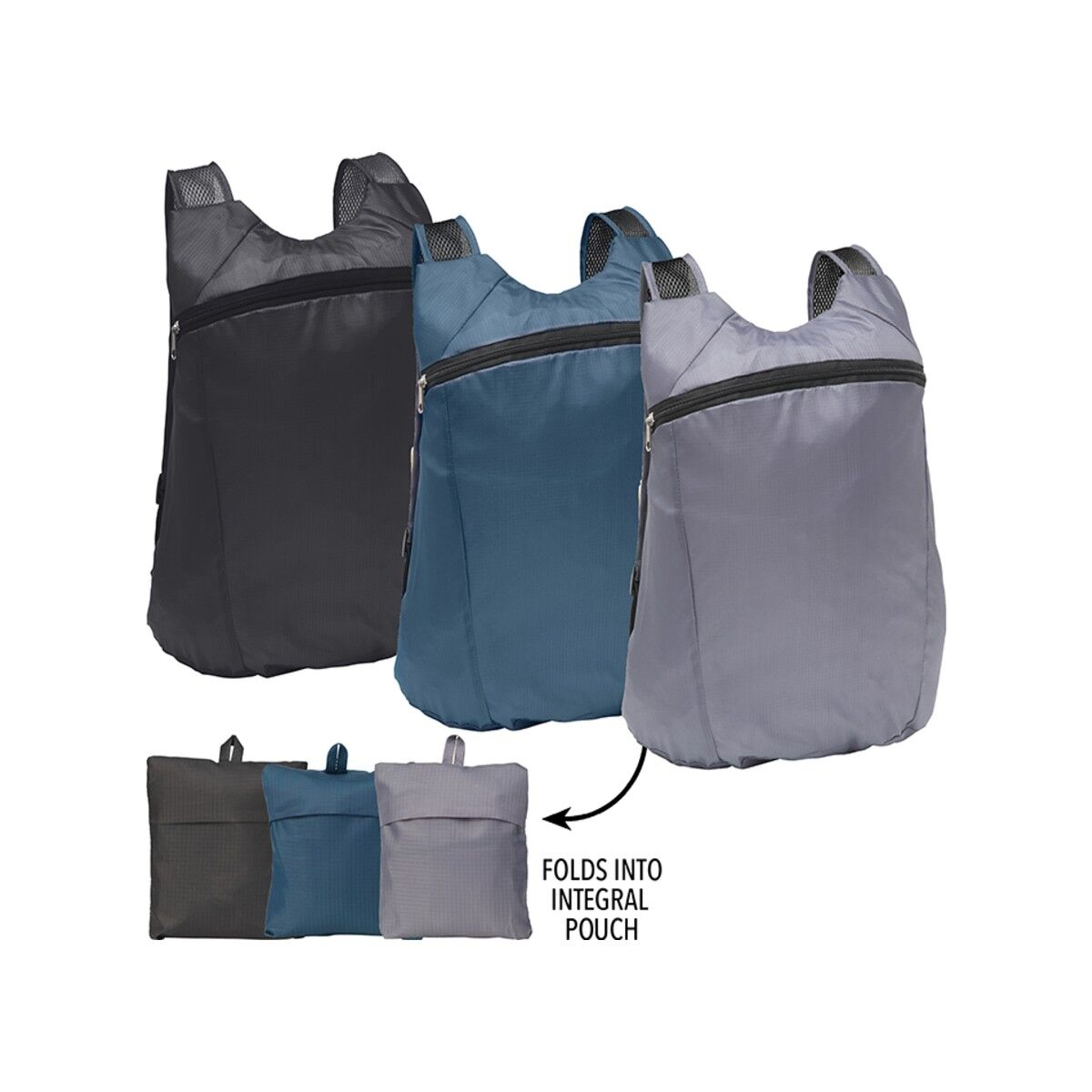 Fold Up Backpack folds into pouch