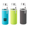 Slim glass bottle 500 ml with coloured neoprene sleeve colours