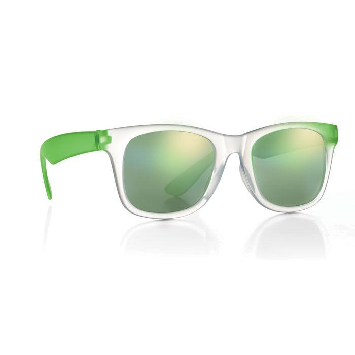 Green mirror lens sunglasses