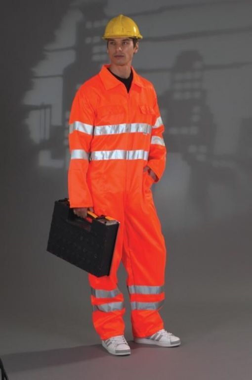 Hi Visibility Safety Workwear  Coverall Orange