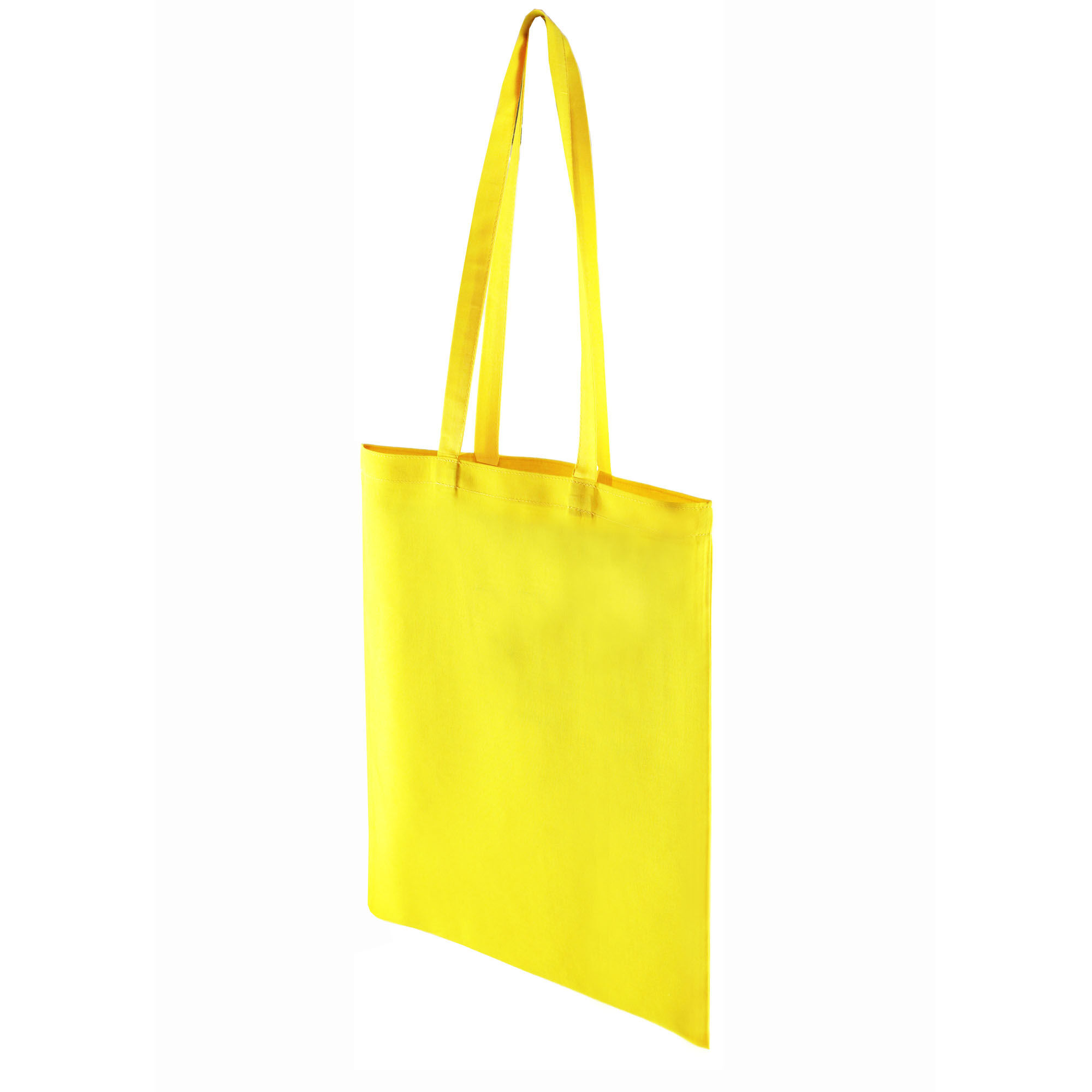 Premium Cotton Dyed Shopper Bags - Yellow