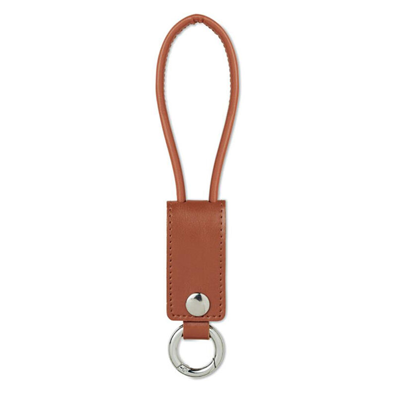 USB Keyring Charging Cable in Leather look PU