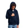 Neutral Brand Navy Organic Kids Hoodie with Zip