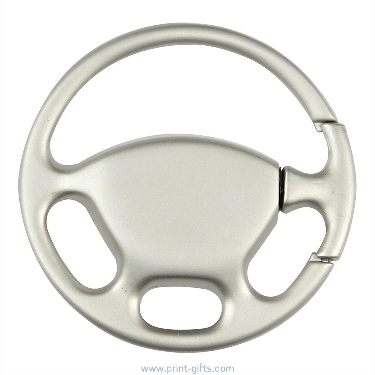Keyring Steering Wheel to Print or Engrave