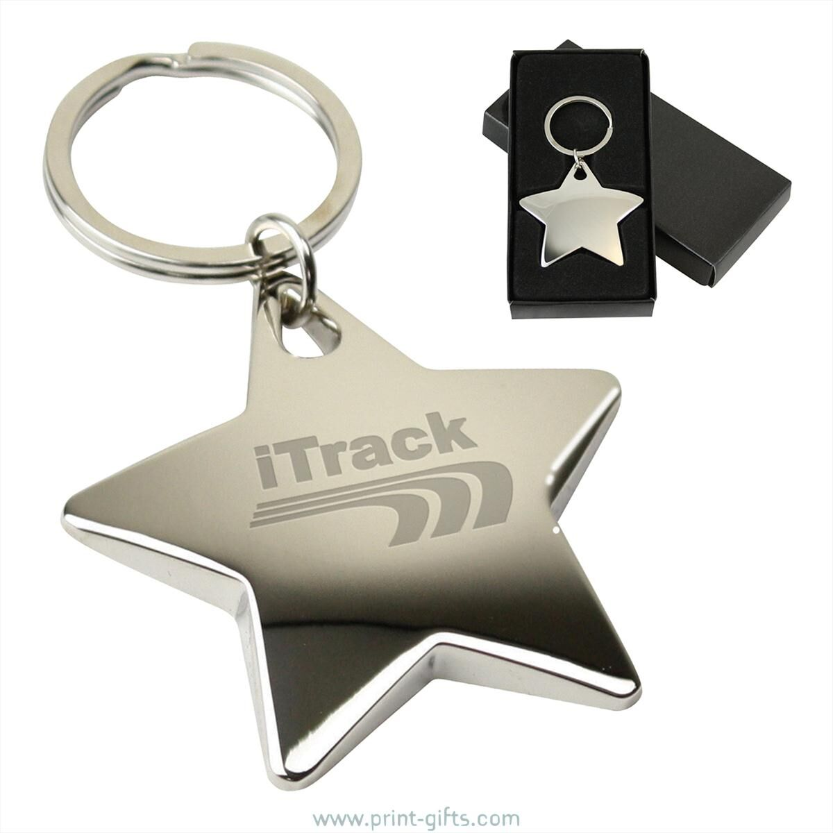 Starlight Metal Keyrings for Engraving - polished metal