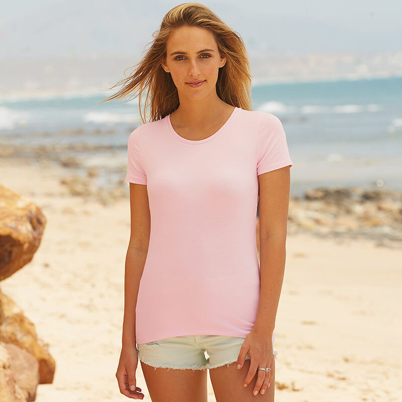 Fruit of the Loom Ladyfit T-Shirt - Pink