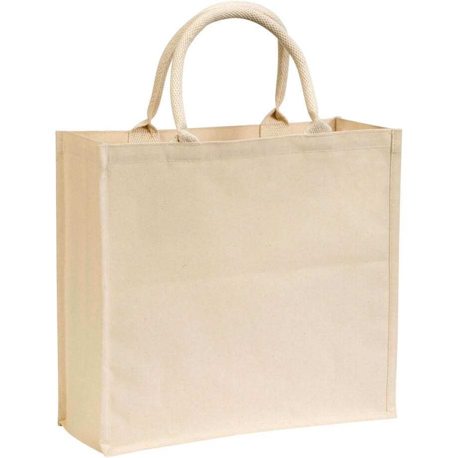 Canvas Laminated Bags - Natural