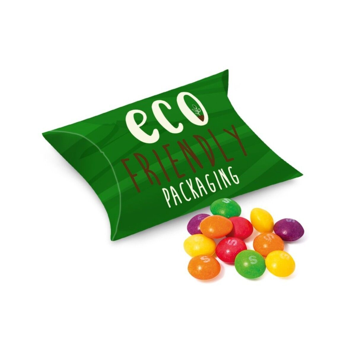 Biodegradable  Card Pouch filled with Skittles