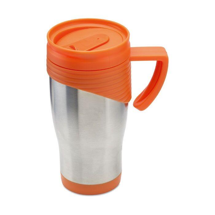 Large Thermal Coffee Mugs With Lids Orange