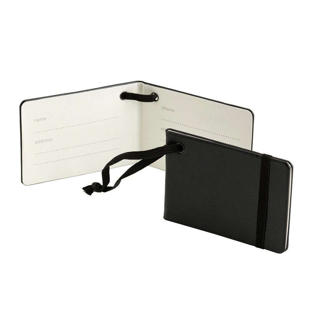 Luggage Tags Notebook Style - Black