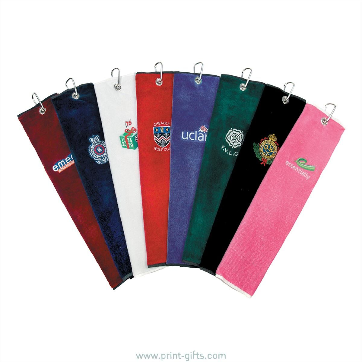 Promotional Embroidered Golf Towels
