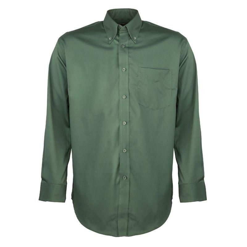 Kustom Kit Men's Long Sleeve Corporate Oxford Shirt (Bottle Green)