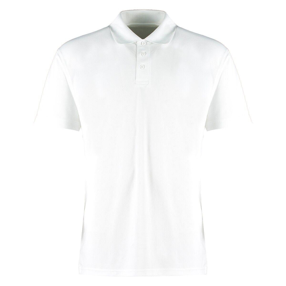 Kustom Kit  Performance Mesh Polo in White