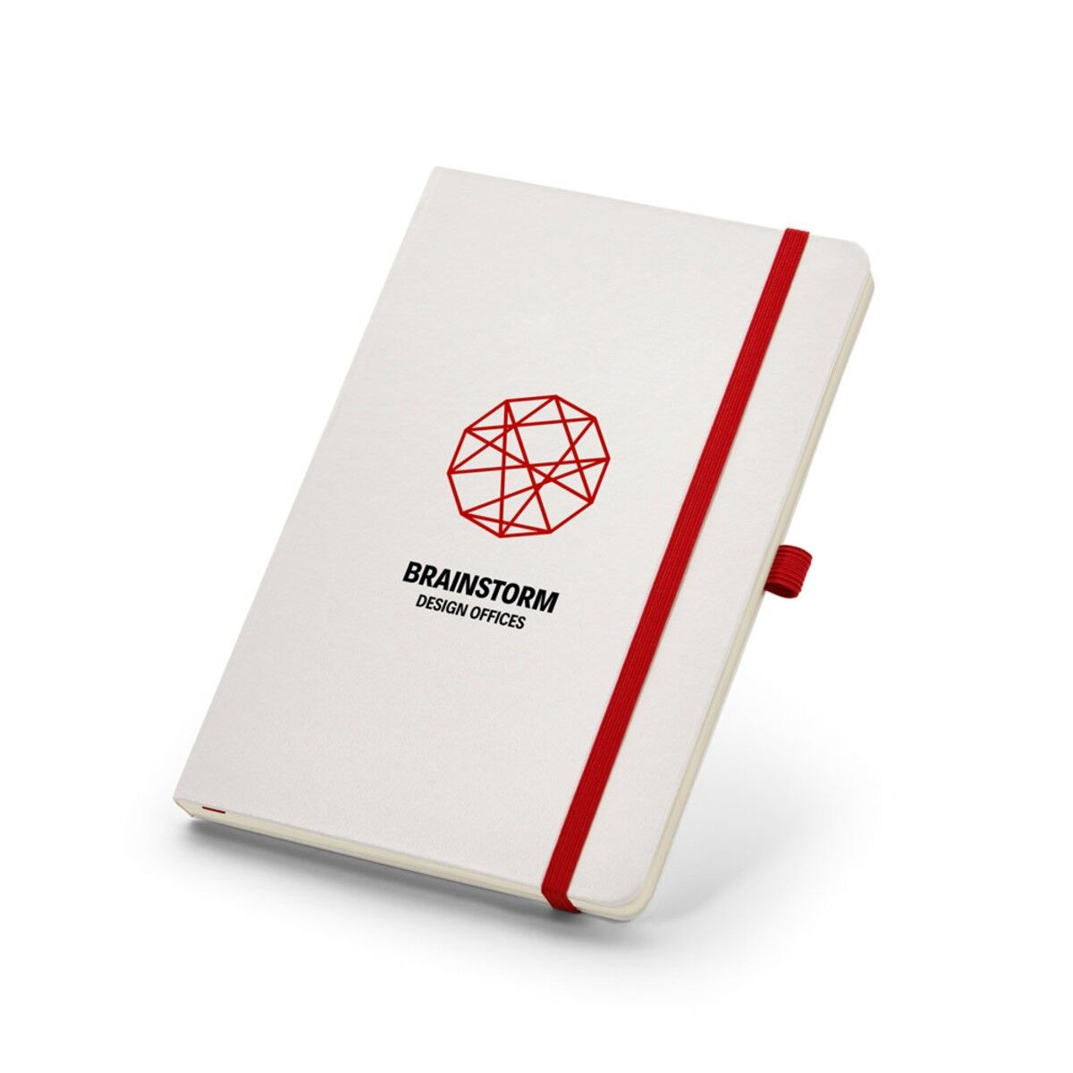 Notepad with Red Pen Loop and Elastic