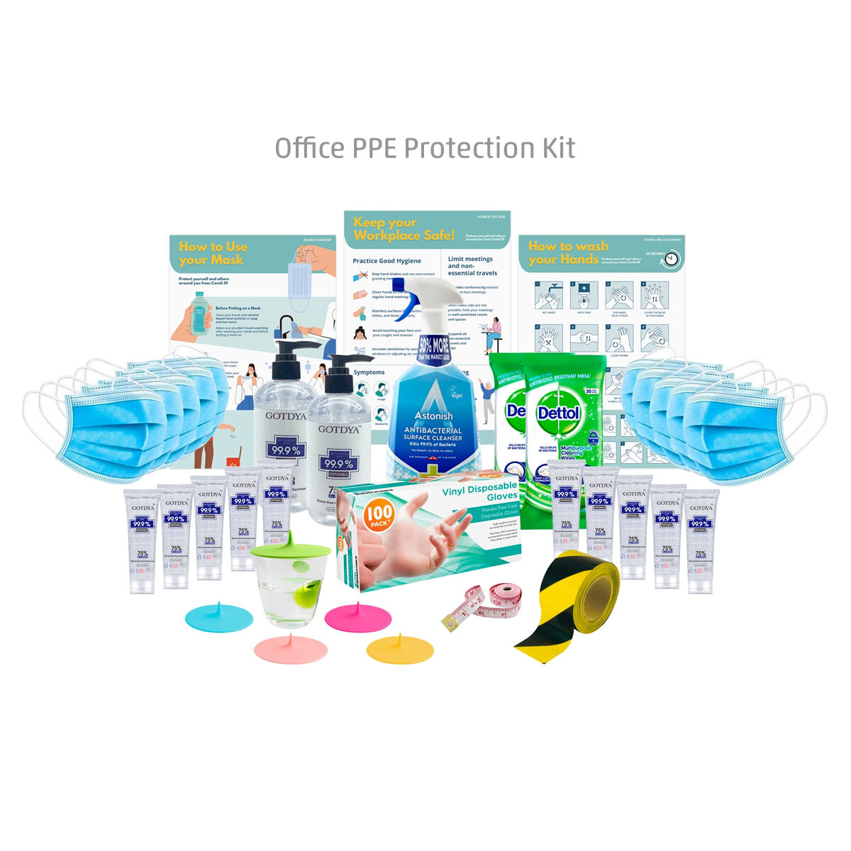 Office PPE Protection Kits Standard Size