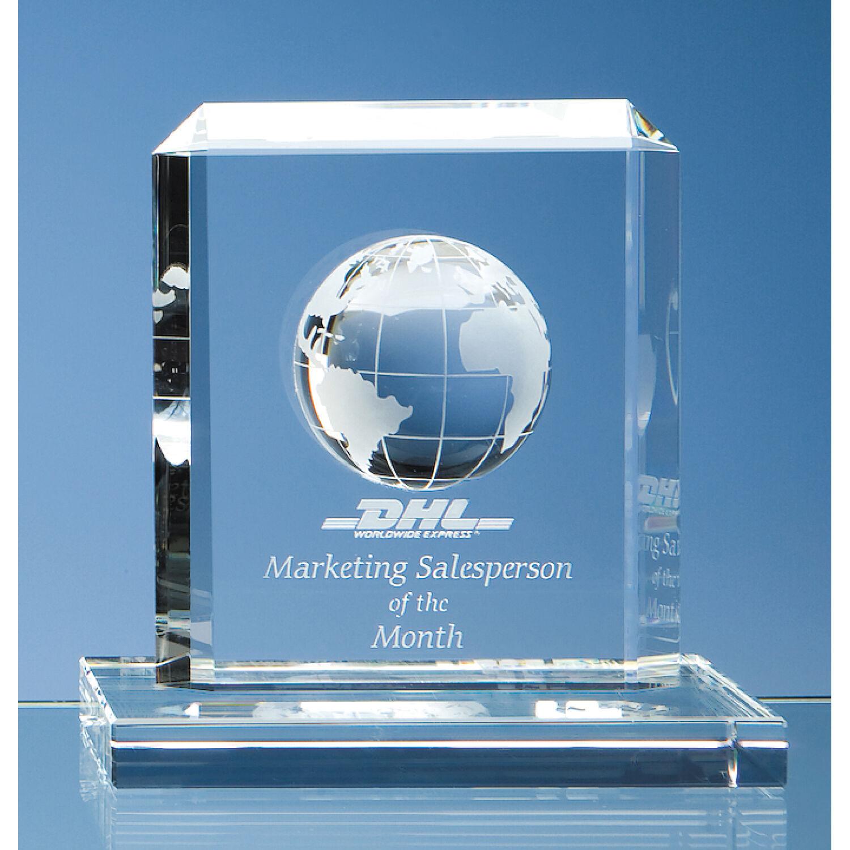 Optical Crystal Rectangle Globe Award