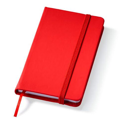 Printed Rainbow Notebooks Red
