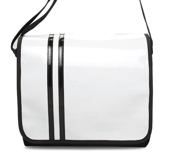 Document Bag in PVC - White