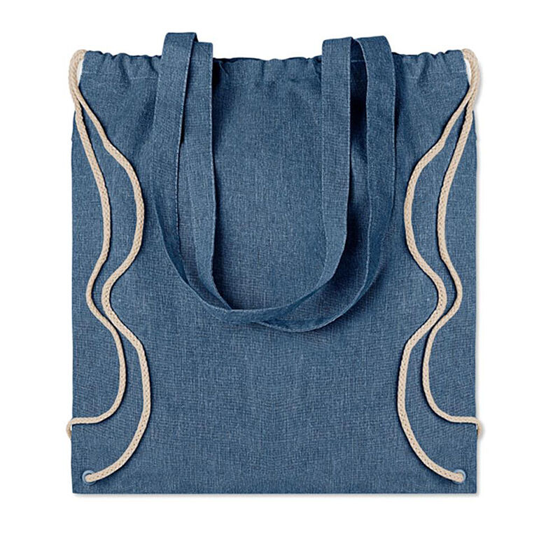 Recycled Cotton Tote Bag Blue