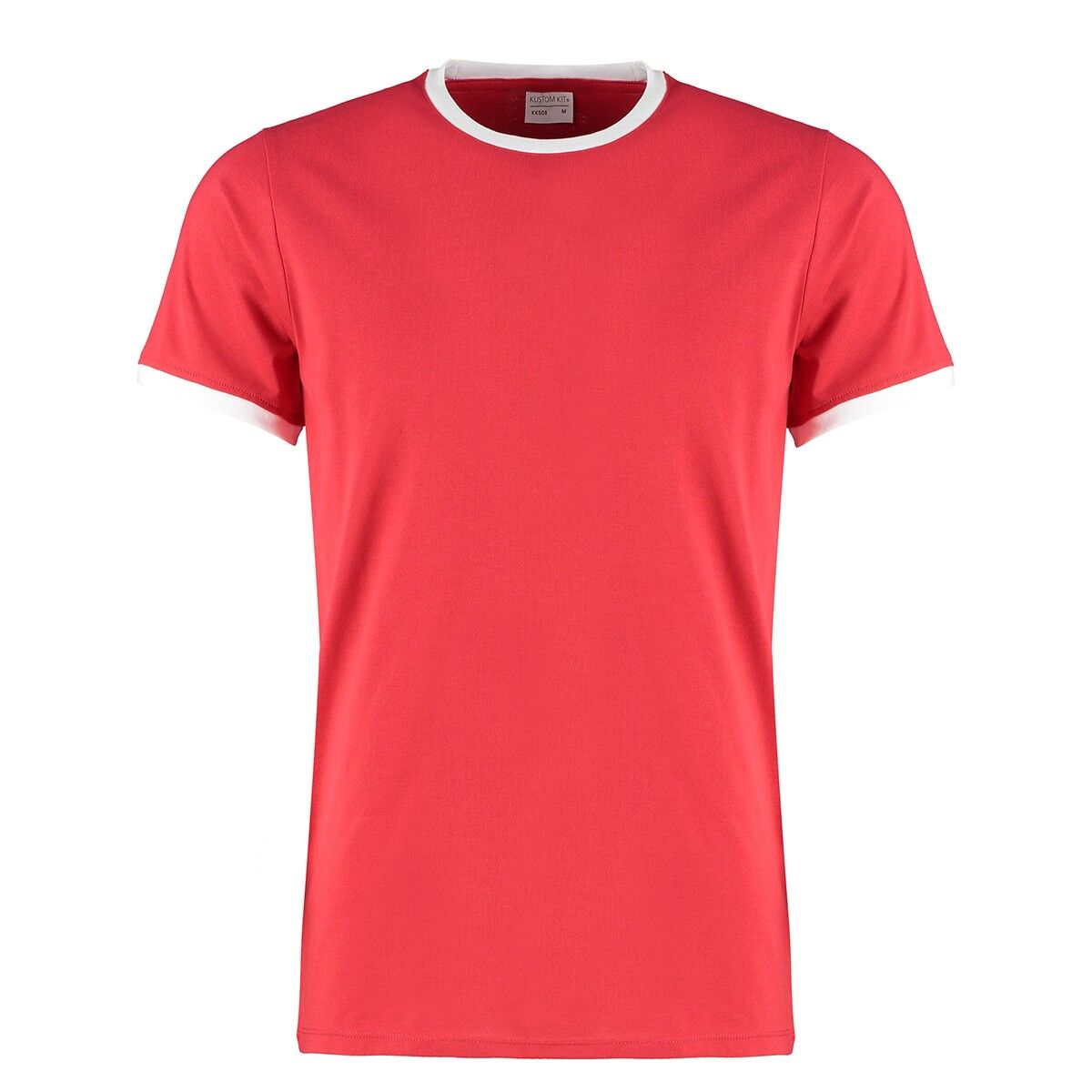 Contrast Ring Tee in Red/White