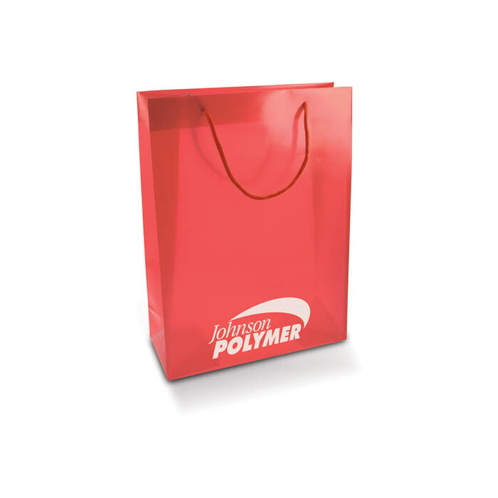 PP rope handled shoppers - red
