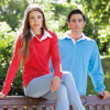 Long Sleeve Rugby Shirts - Red & Light Blue