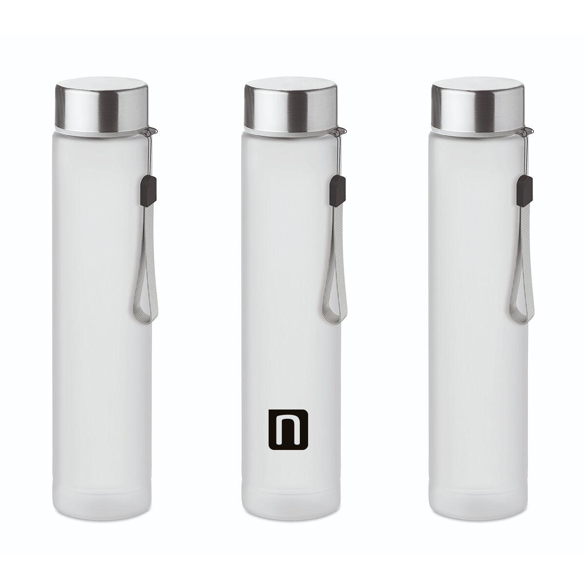 Slim Travel bottle in tritan 300 ml with stainless steel lid