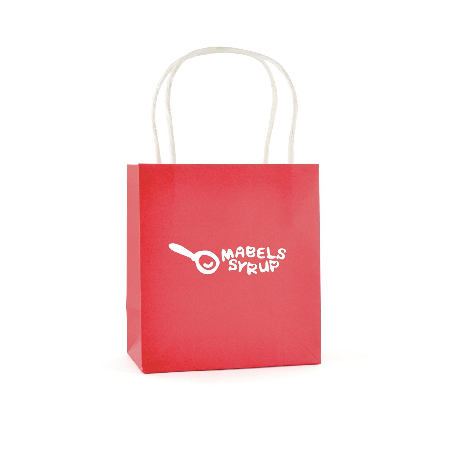 Twist Handle Paper Bags Small Size in Red