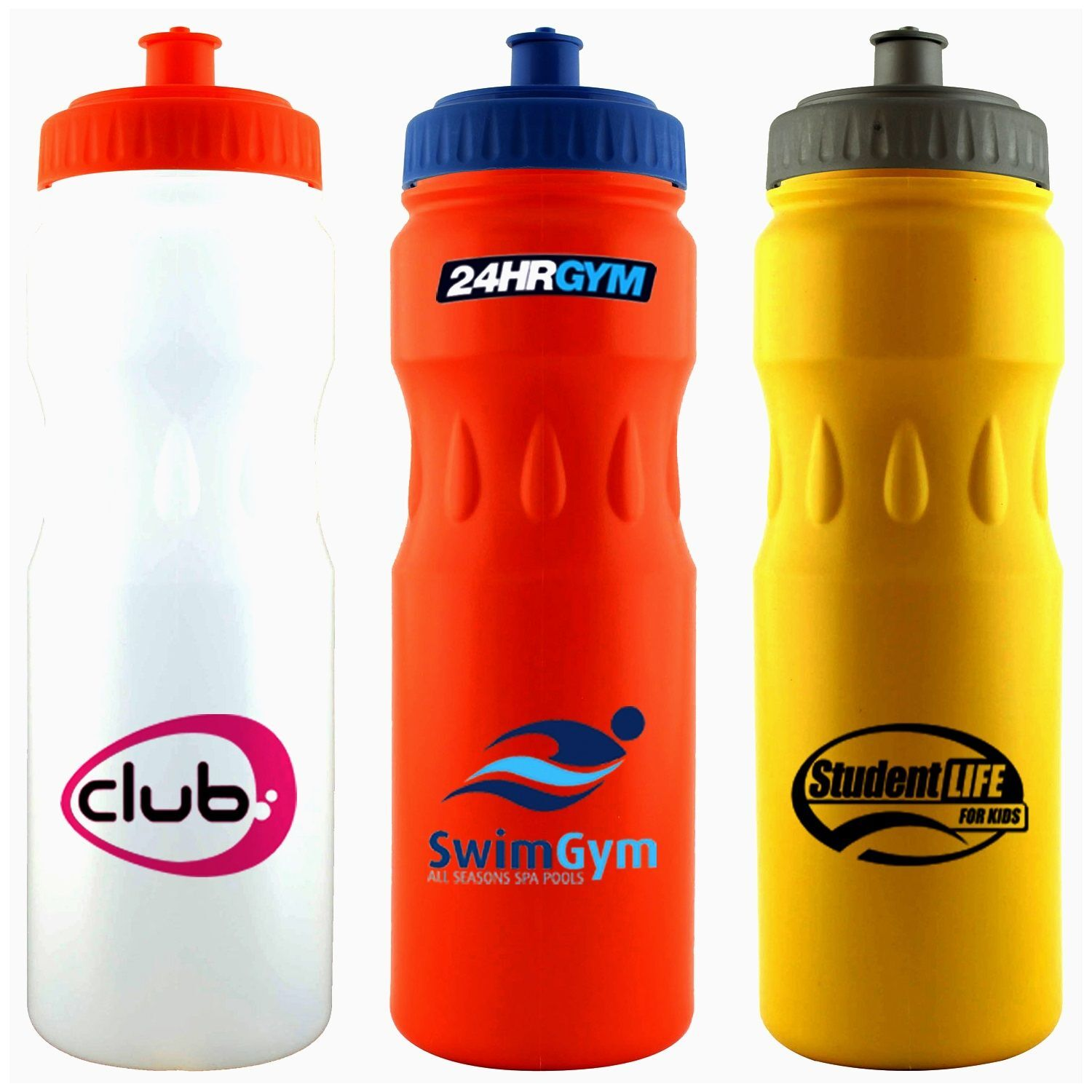 Large Sports Bottle Teardrop (White, Orange, Yellow)