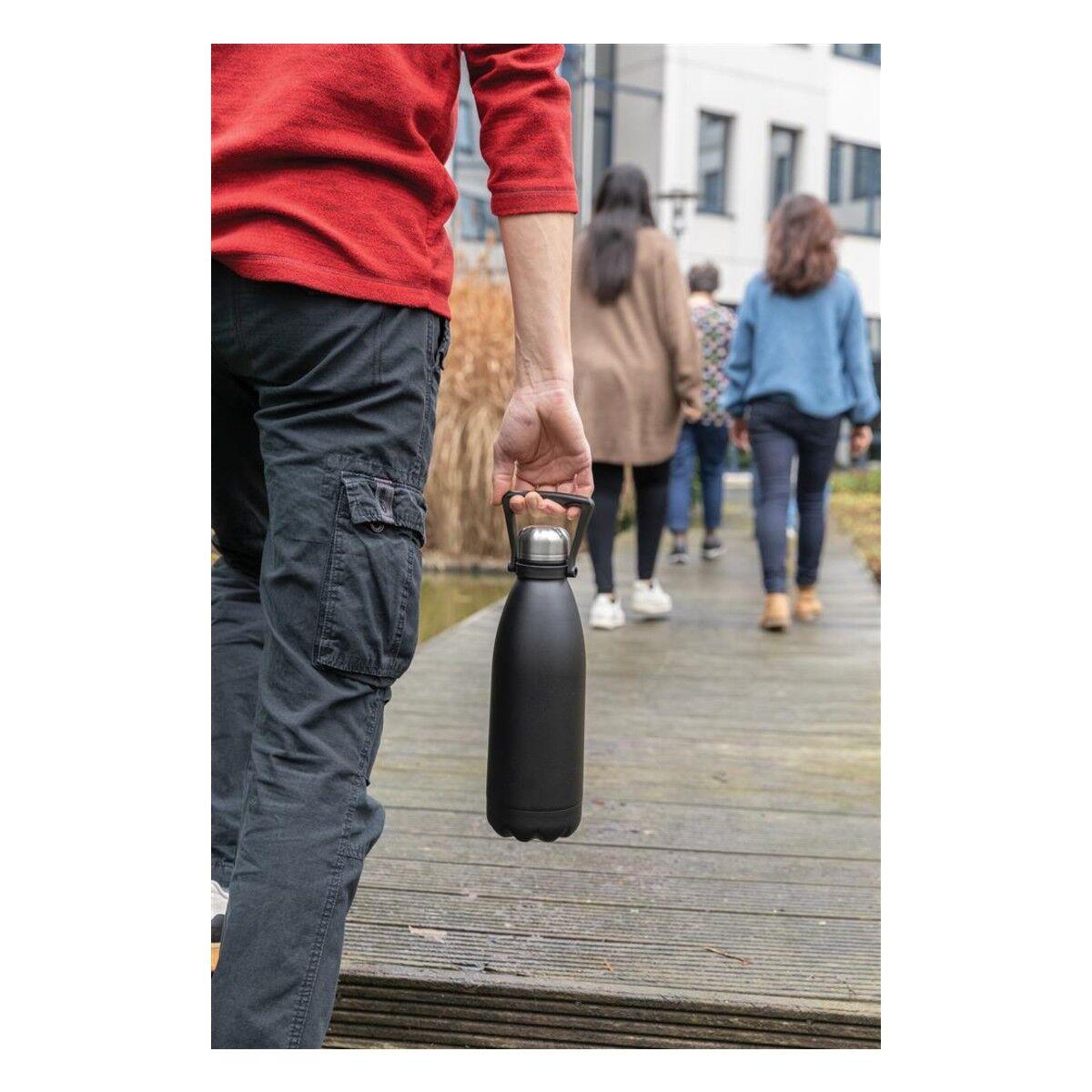 Large Stainless Steel Bottle - Black