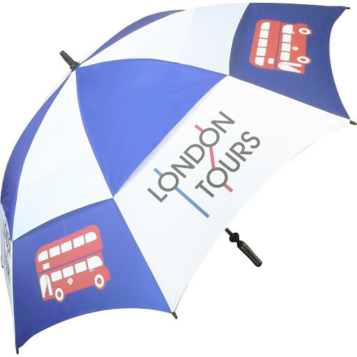 Supervent Golf Umbrellas - Blue & White