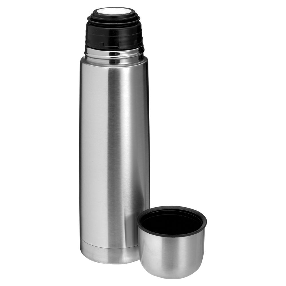 Vacuum Flask with Built-In Cup