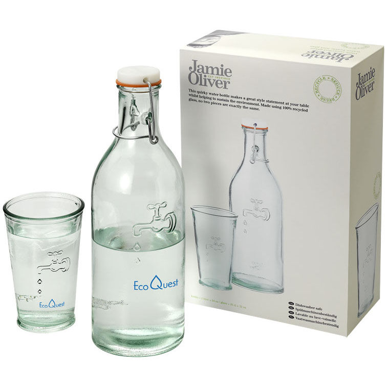 Water Carafe Set made from Recycled Glass