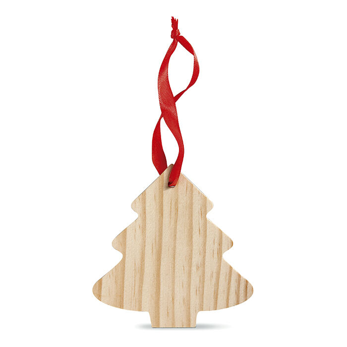 Wooden Christmas Tree Decorations to Engrave or Print - Tree