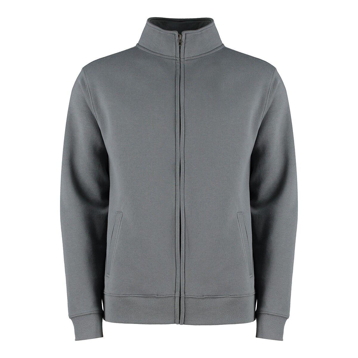 Cadet Zip-Up Sweat in Dark Grey
