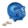 Piggy Banks for Printing - Plastic Blue