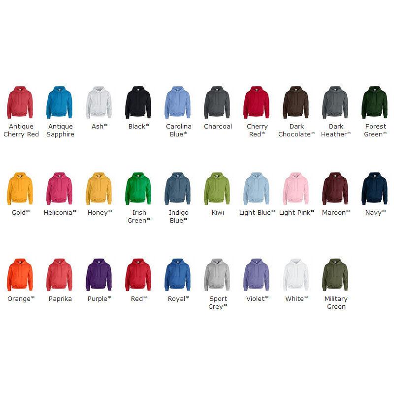 Gildan Heavy Blend Hooded Sweatshirt Colours