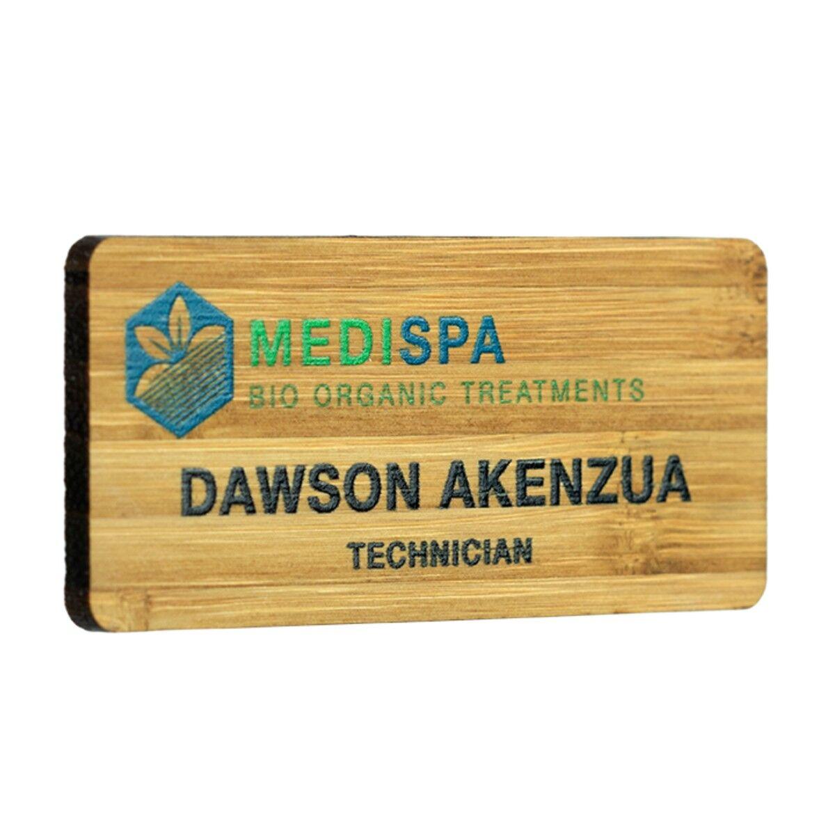 Sustainable Wood Name Badges