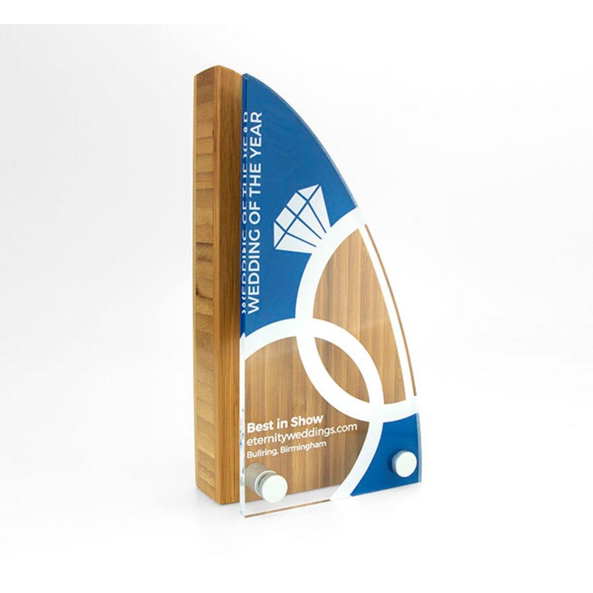 Bamboo Block Awards with acrylic front