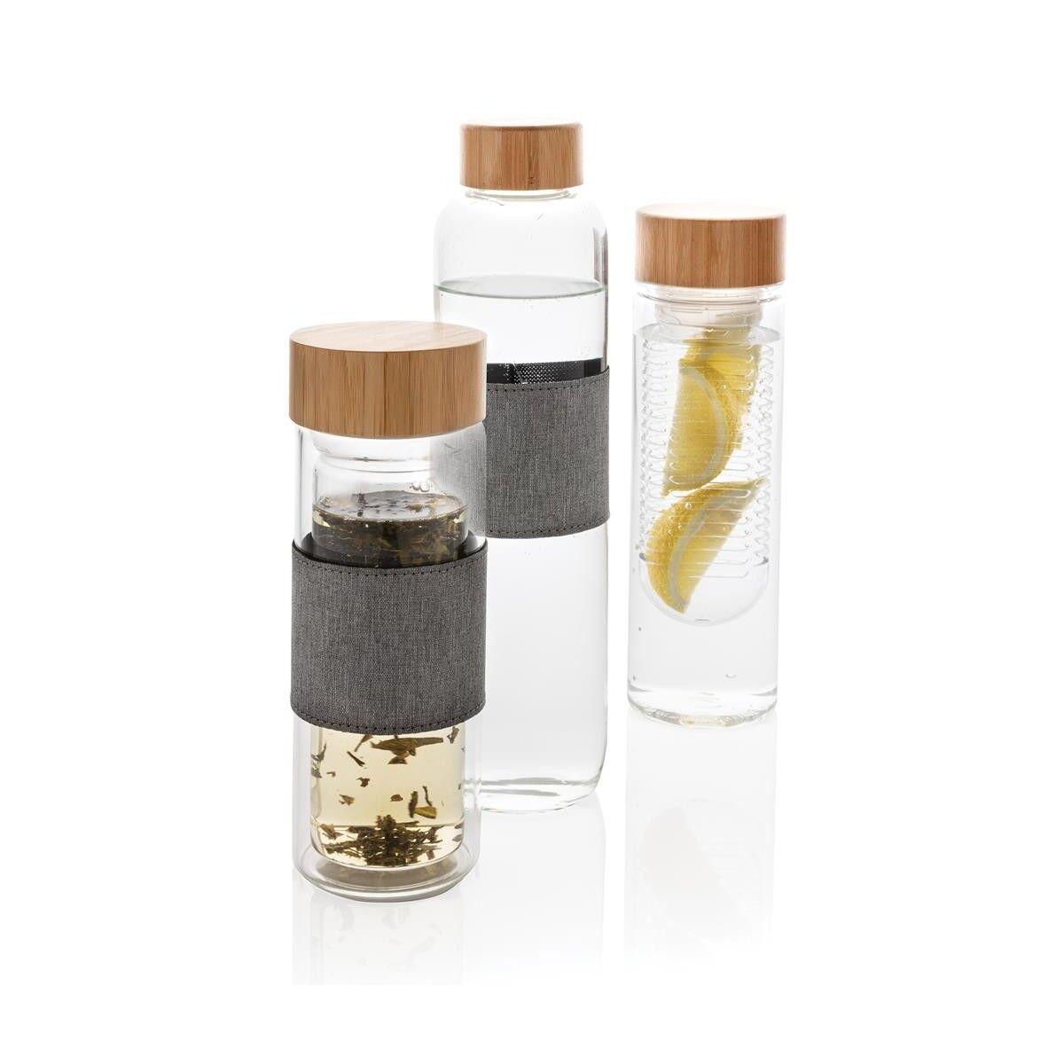 Bamboo lid Infuser Bottle