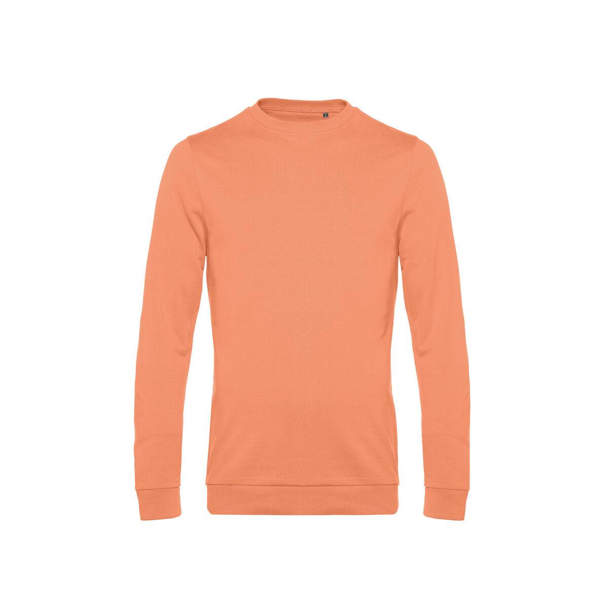 B&C Mens Set In Sweatshirt Melon Orange
